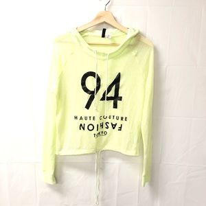H&M Divided XS Tokyo graphic knit hoodie